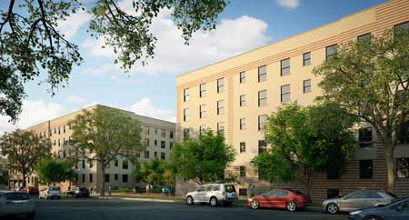 Image result for Chicago's Rosenwald Courts Apartments pictures