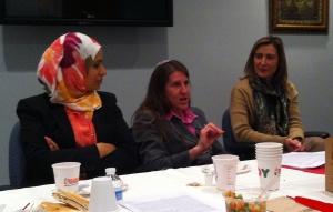Rabbi Memis-Foler (middle) with Humaira Basith (left) and Lena Kasi Touleimat (right)