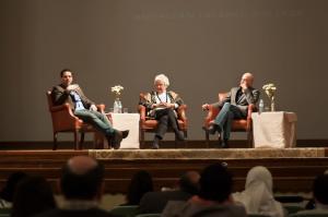Bar-Tura (left) at AIC symposium