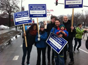 JCUA volunteers at the march