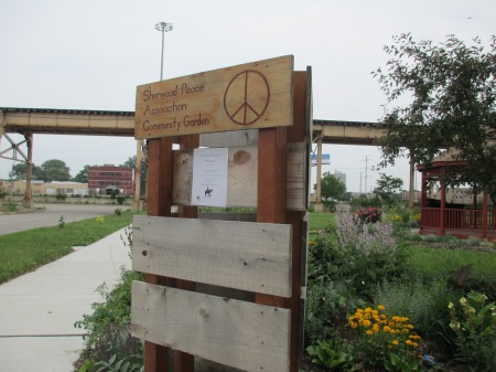As you can see, the Sherwood Peace Association Community Garden aims to create a safe space for the community to gather.