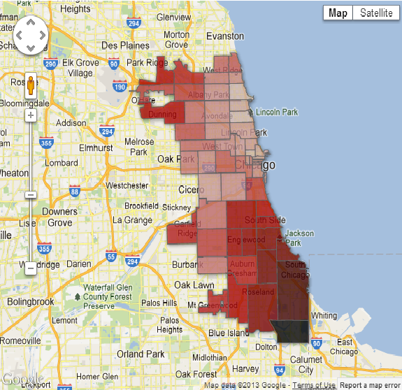 Chicago Killings Map