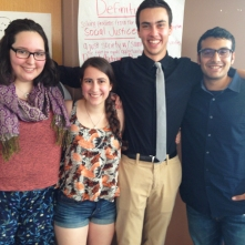 Emily, Meirav, Joel, and David, Or Tzedek alums from Advanced Activism 2013, lead a workshop on taking Or Tzedek home.