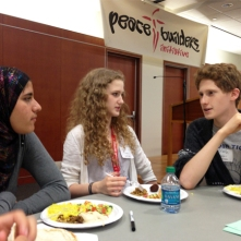 Jewish, Muslim, and Catholic teens from Or Tzedek, Universal School and CTU's Peacebuilders Initiative came together to discuss how their different faith traditions advocate for immigration justice.
