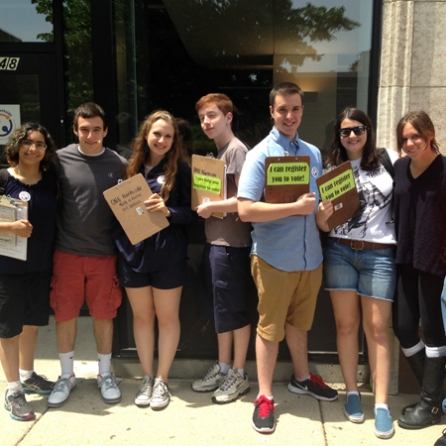 Or Tzedek interns at ONE Northside register over 100 new voters in the Uptown community.