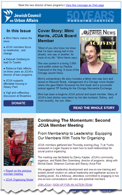 JCUA's latest newsletter is now online here.