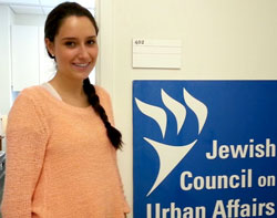 Zoe Reinstein, summer intern at JCUA