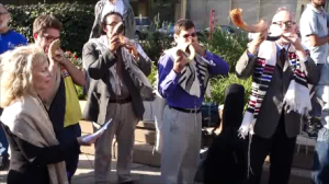 At a recent rally, Chicago-area Jewish clergy sound the shofar to call for a level one trauma center on the South Side.