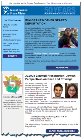 JCUA November 2014 newsletter here.