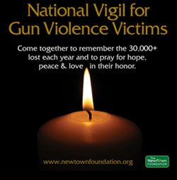 On the second anniversary of the Newton shootings, a vigil for the victims of gun violence will be held in cities across the U.S.  Join JCUA members and other organizations in remembrance: Thursday, Dec. 11, 6:30-8:00 pm, Roosevelt University, 430 S. Michigan Ave., Chicago.  Keynote Speaker: Cook County Board President Toni Preckwinkle will be the keynote speaker. #EndGunViolence.