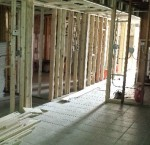 Interior under construction.