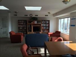 Beautiful and bright community room in Mayfair Commons.