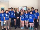 Or Tzedek met with Joseph Piasecki, Illinois State Senator Julie Morrison's Chief of Staff, about the Domestic Worker's Bill of Rights!