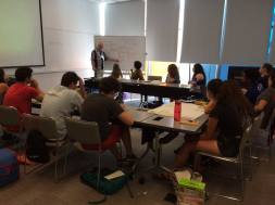 Learning about community organizing with Jim Field, Associate Director & Director of Organizing at the Chicago Coalition for the Homeless.