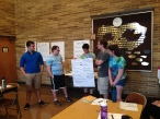 Brian, Jonah, Sam, Alex, and Leora reflect on identity and privilege in one of our workshops with Jessica Havens.