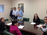 Before our meeting State Rep. Laura Fine.