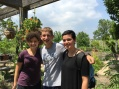 Dina, Parker and Abby at Garfield Park Conservatory
