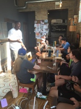 Jahmal Cole of My Block My Hood My City talks to teens about engaging in all of the communities in Chicago