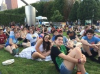 Teens enjoy a Chicago Movie in the Park and picnic!