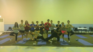 Teens & Marshawn in our best yoga poses