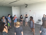 Working on issues of power through Theatre of the Oppressed curriculum lead by Raven Stubbs